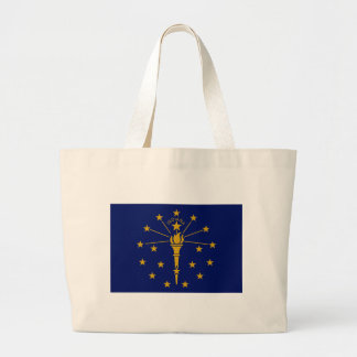 Flag Of Indiana Large Tote Bag