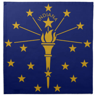 Flag Of Indiana Napkin