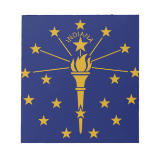 Flag Of Indiana Notepad