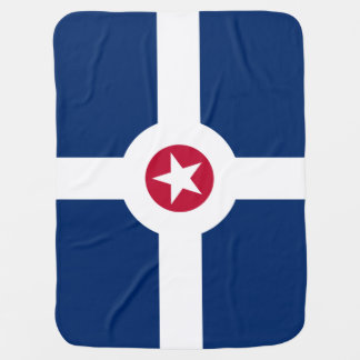 Flag of Indianapolis, Indiana Baby Blanket