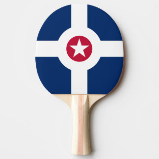 Flag of Indianapolis, Indiana Ping Pong Paddle