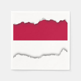 Flag of Indonesia Paper Napkin