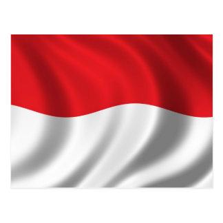 Flag of Indonesia Postcard