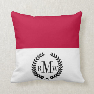 Flag of Indonesia Throw Pillow