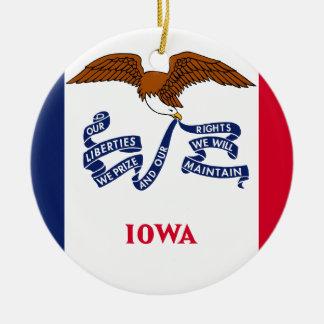 Flag Of Iowa Ceramic Ornament