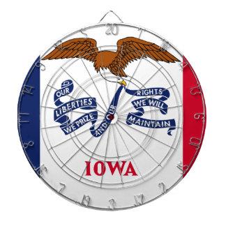 Flag Of Iowa Dartboard