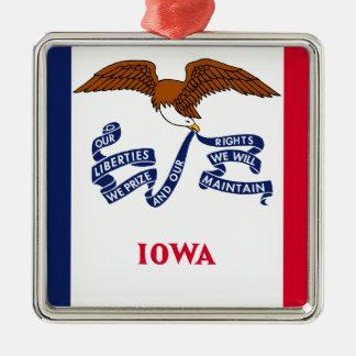 Flag Of Iowa Metal Ornament