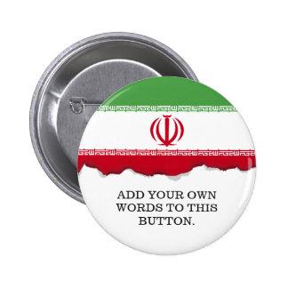 Flag of Iran 2 Inch Round Button