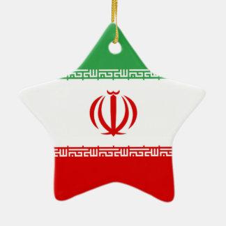 Flag of Iran Ceramic Ornament
