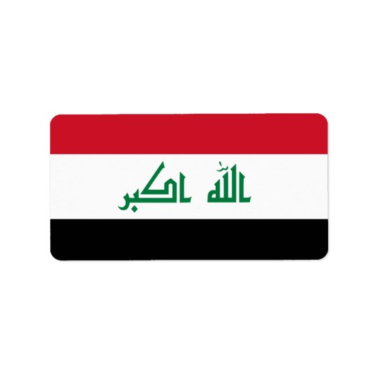 Flag of Iraq Labels