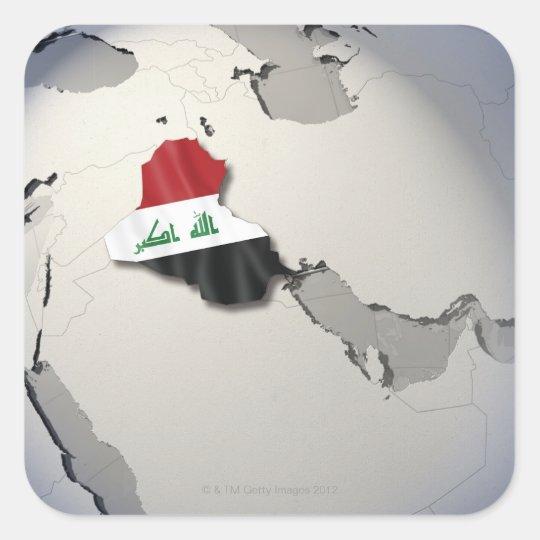 Flag of Iraq Square Sticker