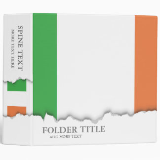 Flag of Ireland 3 Ring Binders