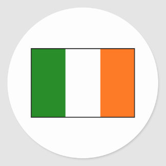 Flag of Ireland Classic Round Sticker