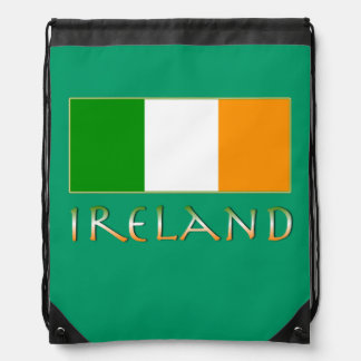 Flag of Ireland Drawstring Bag
