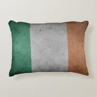 Flag of Ireland Grunge Style Decorative Pillow