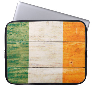 Flag of Ireland on Wood Computer Sleeves
