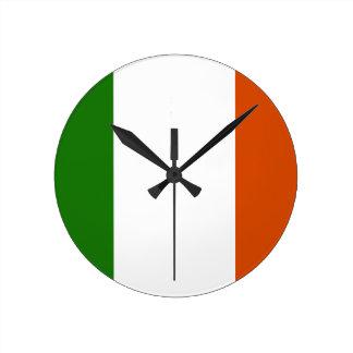 Flag of Ireland Round Clock