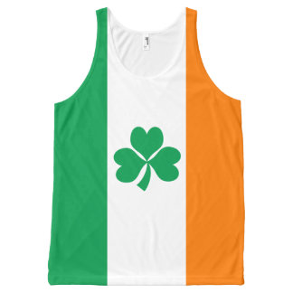 Flag of Ireland Shamrock All-Over-Print Tank Top