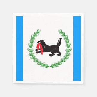 Flag of Irkutsk oblast Paper Napkin