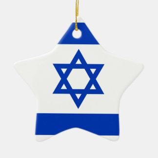 Flag of Israel - דגל ישראל - ישראלדיקע פאן Ceramic Star Ornament