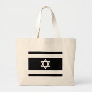 Flag of Israel - דגל ישראל - ישראלדיקע פאן Large Tote Bag