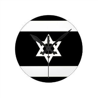 Flag of Israel - דגל ישראל - ישראלדיקע פאן Round Clock
