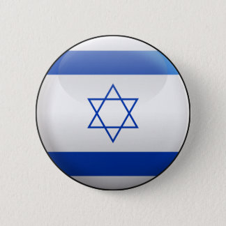 Flag of Israel 2 Inch Round Button