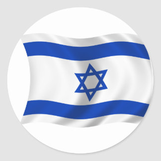 Flag of Israel Classic Round Sticker