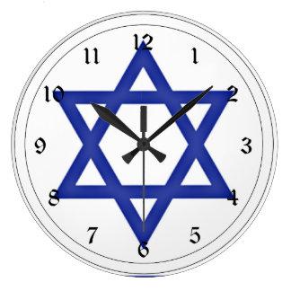 Flag of Israel Large Clock