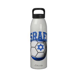 Flag of Israel Soccer Ball Liberty Bottle Water Bottle