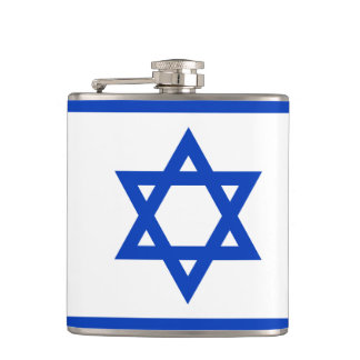 Flag of Israel Vinyl Wrapped Flask