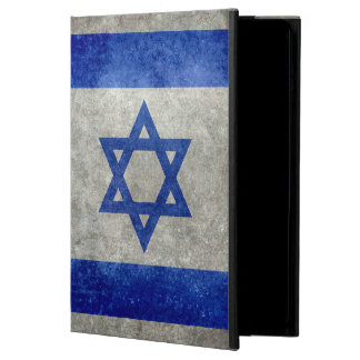 Flag of Israel with worn retro vintage textures Case For iPad Air