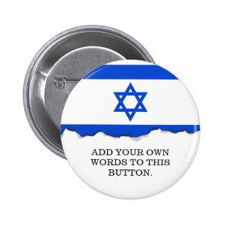 Flag of Israeli 2 Inch Round Button