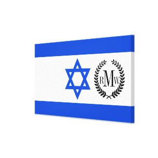 Flag of Israeli Canvas Print
