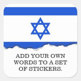 Flag of Israeli Square Sticker