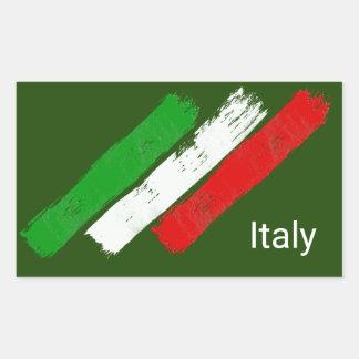 Flag of Italy.brush strokes. Sticker