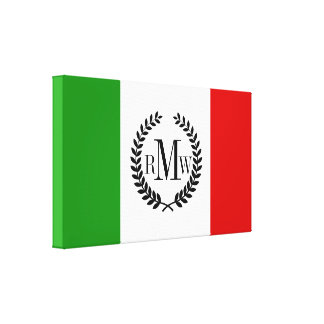 Flag of Italy Canvas Print