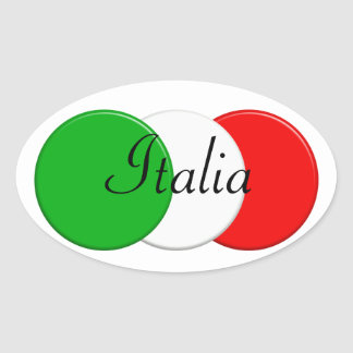Flag of Italy. i love Italy. Oval Sticker