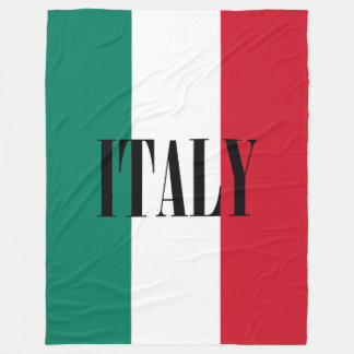 Flag of Italy Italia Italian Fleece Blanket