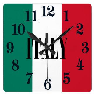 Flag of Italy Italia Italian Square Wall Clock