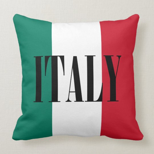 Flag of Italy Italia Italian Throw Pillow