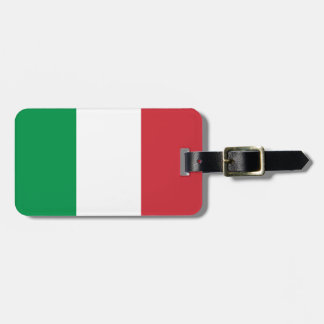 Flag of Italy Luggage Tag w/ leather strap