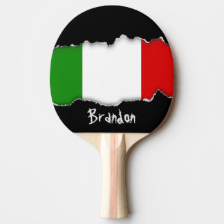 Flag of Italy Ping Pong Paddle