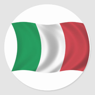 Flag of Italy Round Sticker