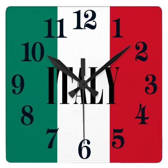 Flag of Italy Wallclock