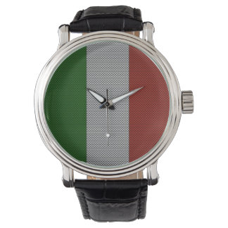 Flag of Italy with Carbon Fiber Effect Watch
