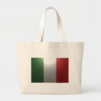Flag of Italy with metallic effect Jumbo Tote Bag