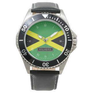 Flag of Jamaica Custom Name Watches