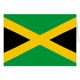 Flag of Jamaica - Jamaican Flag Card