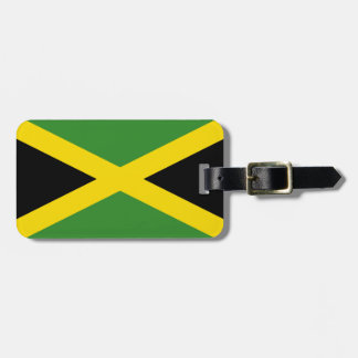 Flag of Jamaica Luggage Tag w/ leather strap